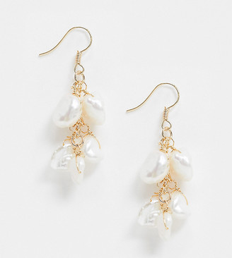 South Beach Exclusive pearl effect drop earrings