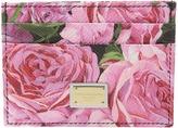 Dolce & Gabbana Floral Printed Card Case Credit card Wallet