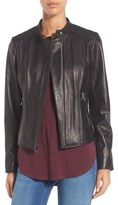 Andrew Marc 'Liv' Lambskin Leather Jacket
