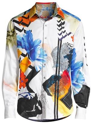 Robert Graham Limited Edition Multicolor Abstract-Print Sport Shirt