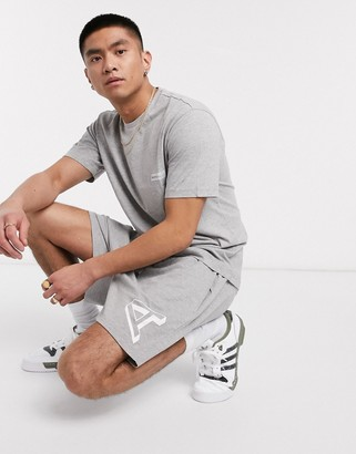 The Arcminute Arcminute logo sweat shorts in grey