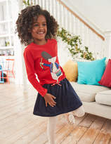 Boden Velvet Skater Skirt