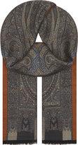 Etro Ornate Paisley Wool-silk Blend Scarf