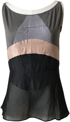 Martine Sitbon Black Silk Top for Women Vintage