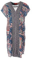 Rene Derhy Printed Short-Sleeved Shift Dress