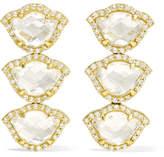 Amrapali Nalika Lotus 18-karat Gold, Topaz And Diamond Earrings
