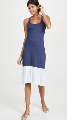 Chaser Racerback Midi Dress with Peplum Hem