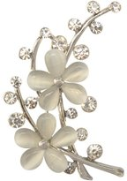 MagiDeal Delicate Opal Stone Flower Brooch Pin Crystal Garment Accessories Birthday Gift