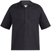 Marni Velcro-fastening Short-sleeved Cotton Shirt