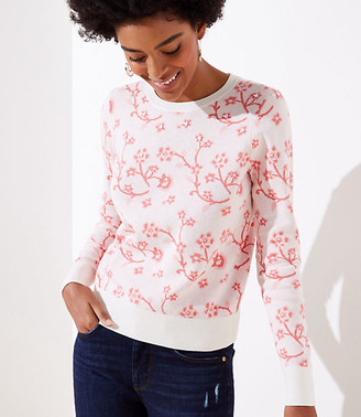 LOFT Embroidered Floral Sweater