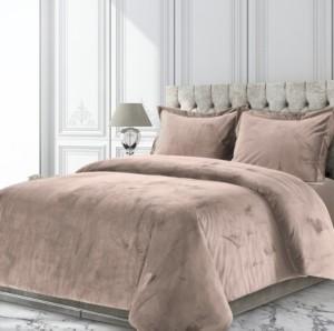 Tribeca Living Venice Velvet Oversized Solid Twin Duvet Cover Set Bedding
