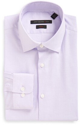 John Varvatos Soho Slim Fit Stretch Solid Dress Shirt
