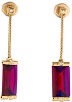 Baccarat So Insomnight Crystal and Diamond Drop Earrings