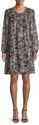 Tommy Hilfiger Printed Long-Sleeves Dress