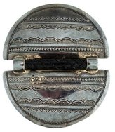 Hermes Sterling Oval Touareg Belt Buckle