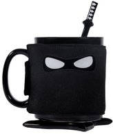 Thumbs Up Ninja Mug, Black
