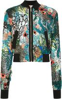 Elie Saab Bead Embroidered Bomber Jacket