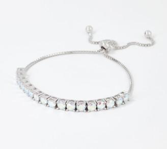 Diamonique Round Cut Aurora Borealis Bracelet, Sterling Silver