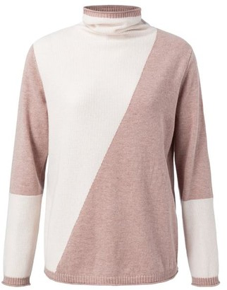 Ya-Ya Faded Pink Colourblock Knit - Medium