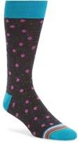 Bugatchi Men's Donegal Polka Dot Socks