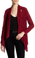 Bobeau Fleece One Button Cardigan (Petite)
