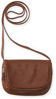 Aeropostale Womens Faux Leather Crossbody Bag