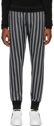 Dolce & Gabbana Black and White Striped Lounge Pants