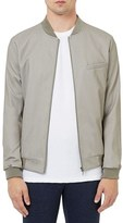 Topman Men's Tailored Twill Bomber Jacket