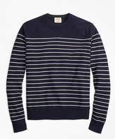 Brooks Brothers Breton-Stripe Cotton-Cashmere Sweater