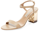 Burberry Check Engraved Two-Piece Sandal