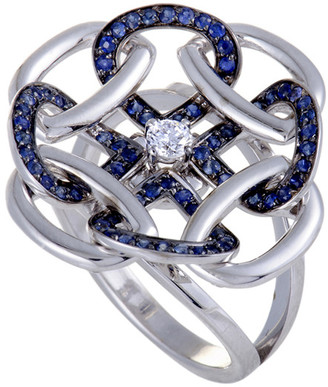 Gianni Lazzaro 18K 0.59 Ct. Tw. Diamond & Sapphire Ring