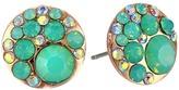 Betsey Johnson Blue Rose Gold Boost Crystal Stud Earrings Earring