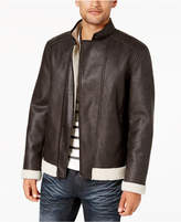 INC International Concepts Men's Fleece-Lined Faux Leather Jacket, Created for Macy's