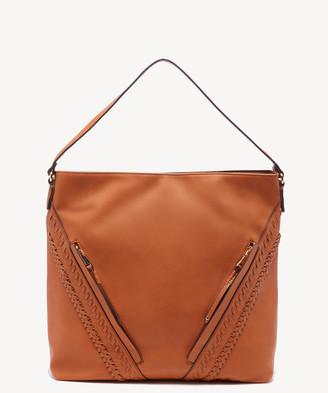 Sole Society Women's Destin Hobo Bag 2 Vegan Leather Shoulder New Camel From