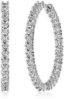 """Roberto Coin Perfect Diamond Hoops"""" 18k White Gold Earrings (2.84 cttw, G-H Color, SI1 Clarity)"""