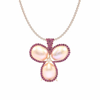 Rubie's Costume Co Ri Noor Three Pearl Necklace With & Diamond