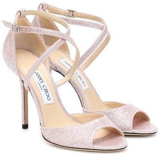 Jimmy Choo Emsy 100 lame sandals