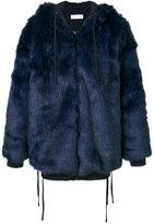Faith Connexion embellished fur coat