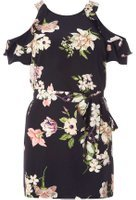 Dorothy Perkins Womens Navy Floral Tunic- Blue