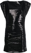 P.A.R.O.S.H. sequinned sleeveless dressneck