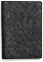 Smythson Leather Passport Cover - Black
