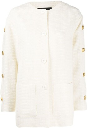 Boutique Moschino Button-Up Tweed Jacket