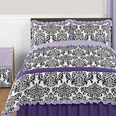 Sweet Jojo Designs Sloane Lavender Purple White Polka Dot and Damask 3 Piece Girls Full / Queen Bedding Set