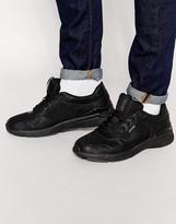 Jack & Jones Utica Leather Trainers - Black