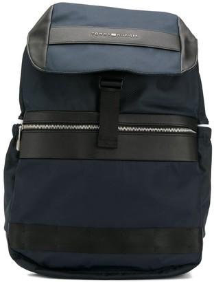 Tommy Hilfiger textile flap backpack