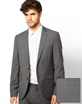 Esprit Skinny Fit Jacket With Mini Check
