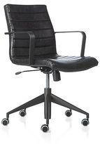 Crate & Barrel Graham Black Office Chair