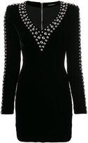 Balmain stud-trimmed dress