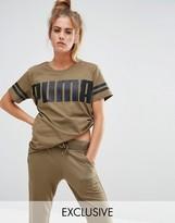 Puma Exclusive To ASOS Logo T-Shirt In Khaki