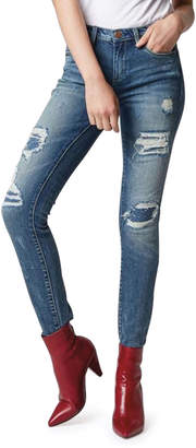 Blank NYC Classic Mid-Rise Rip/Repair Skinny Jeans